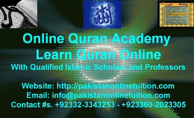Online Quran Academy Pakistan - Pakistan Quran Tuition