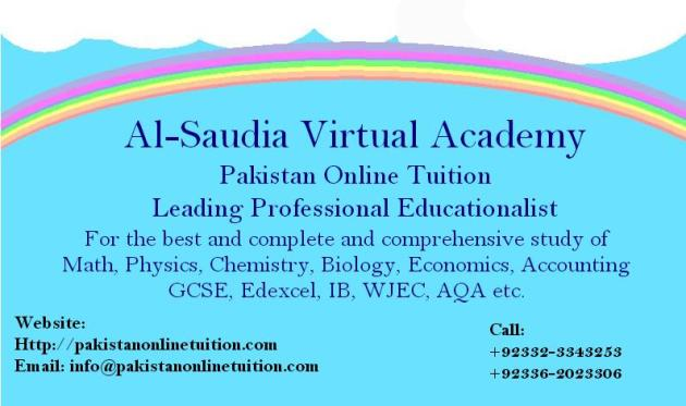 Pakistan Best Online Tuition