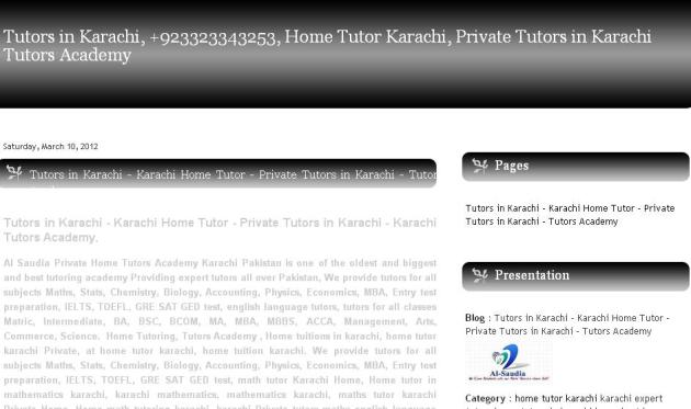 Tutors in Karachi - Online Tuition Pakistan