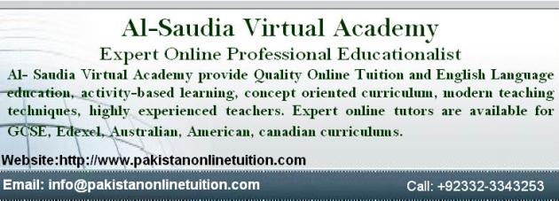 Online Female Tutor Pakistan