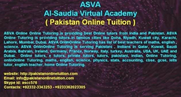 ASVA Online - Online Tutoring Services Pakistan