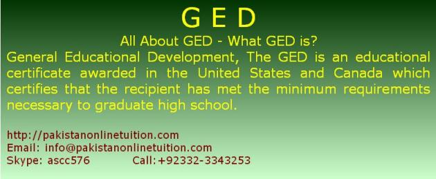 All About GED – What GED is?