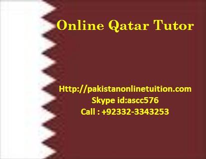 Online Qatar Tutor – Doha Online Tuition