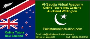Online Tutors New Zealand, Auckland and Wellington.