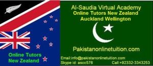 Online Tutors New Zealand, Auckland and Wellington.
