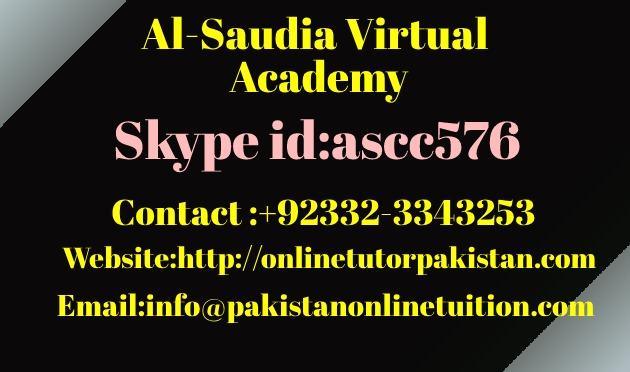 Olevel Math Tutor Pakistan